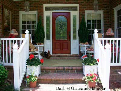 Front Door Designs on Porch The Columns Steps Lighting Flooring Front Door And More