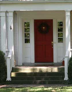 Dramatic red door