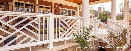 custom porch railings  by The Porch Company