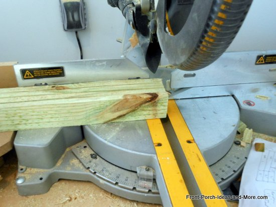 cutting rails for fence using miter saw