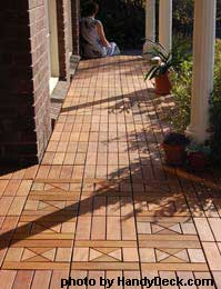 Beautiful porch floor with interlocking deck tiles