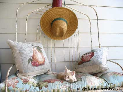 Whimsical summer porch decorating