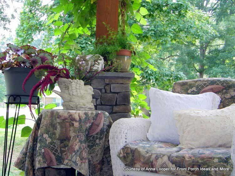 Beautiful plants grace Anna's porch