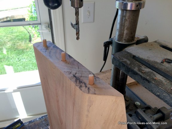 drilling legs for dowels