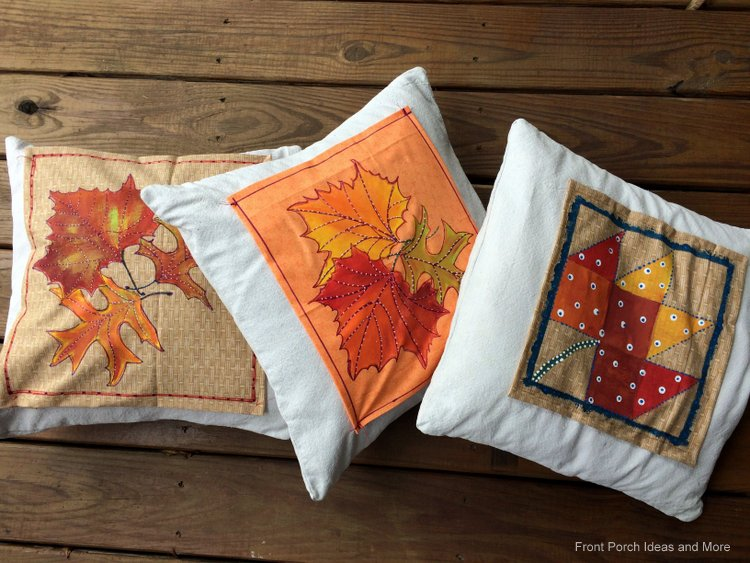 vivid autumn pillow toppers