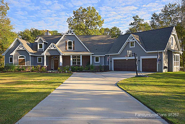 Ranch Style House Plans ranch house plan manor heart 10 590 front elevation Architecturally Beautiful Ranch Style Home Plan Family Home Plans Plan 95979