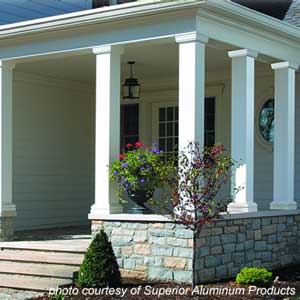 Front porch columns vinyl porch posts for House plans with columns and porches