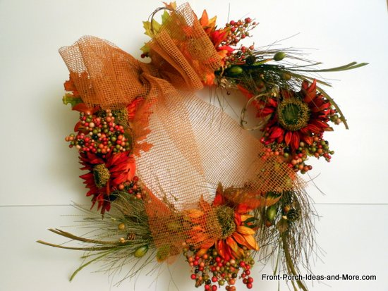 finished autumn wreath