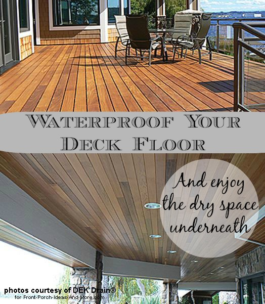 Deck Waterproofing Deck Drainage Waterproof Deck