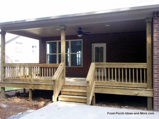 finished deck or porch steps
