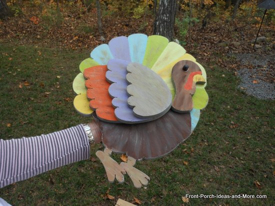 turkey complete with paint and eye
