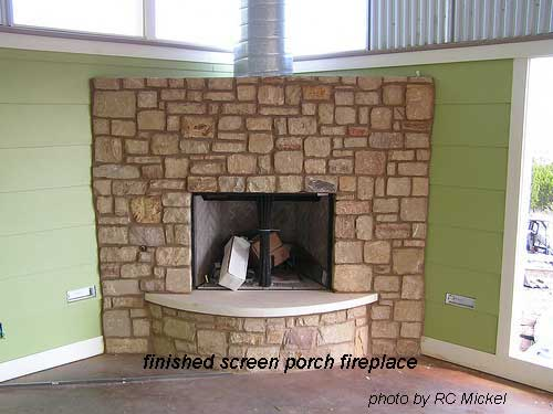 Build a porch part 2 build a screened porch front for Building a corner fireplace