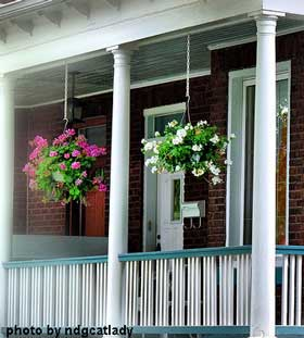 Two pretty flower baskets