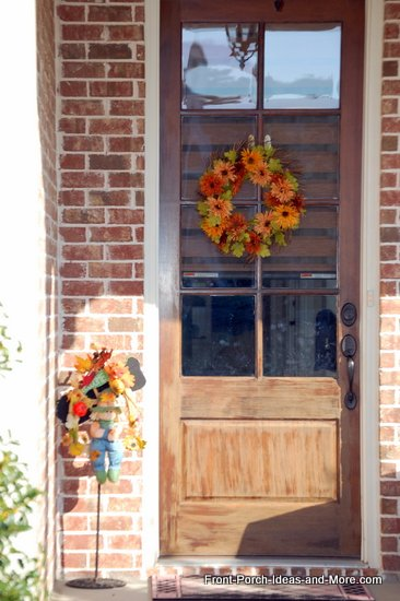 natural fall wreath is a circle of autumn flowers