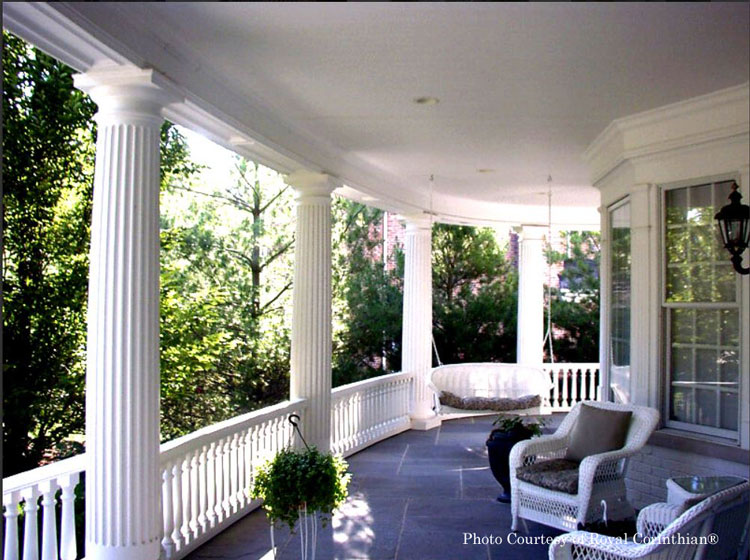 Royal Corinthian® Fluted Columns on front porch