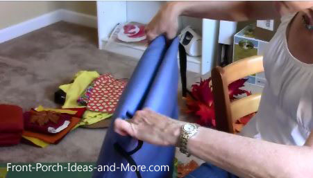 Fold the top down neatly and sew across the edge.