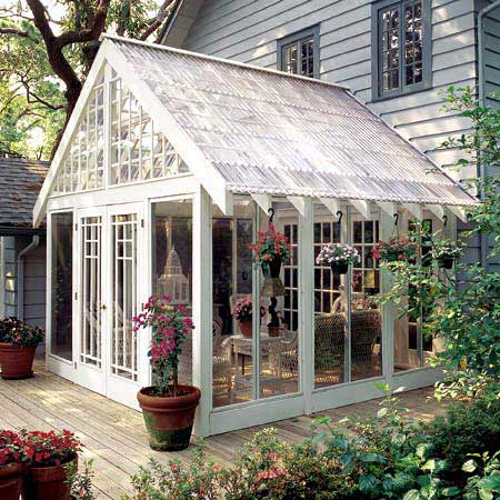 DIY four season room plan with glass roof design