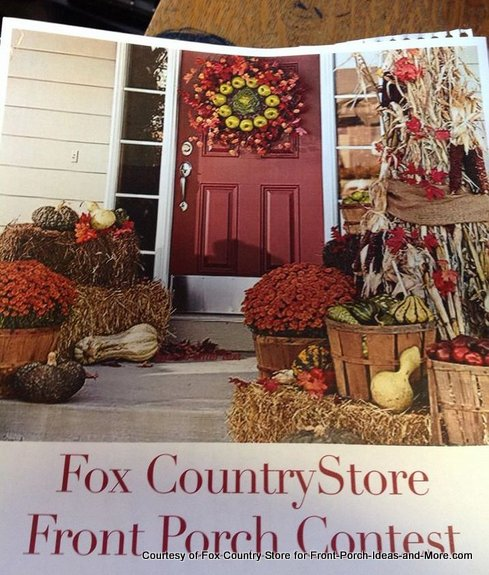 entry form to Fox Country Store porch contest