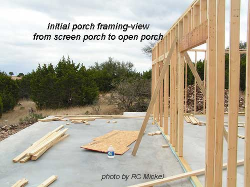 Build a porch part 1 a combination open and screened for House framing 101