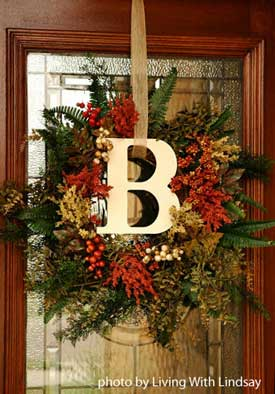 Beautiful Front Doors on To Living With Lindsay For This Great Front Door Wreath Project