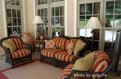 nicely decorated and furnished porch