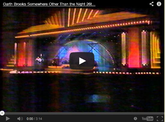 Garth Brooks singing Somewhere Other Than The Night