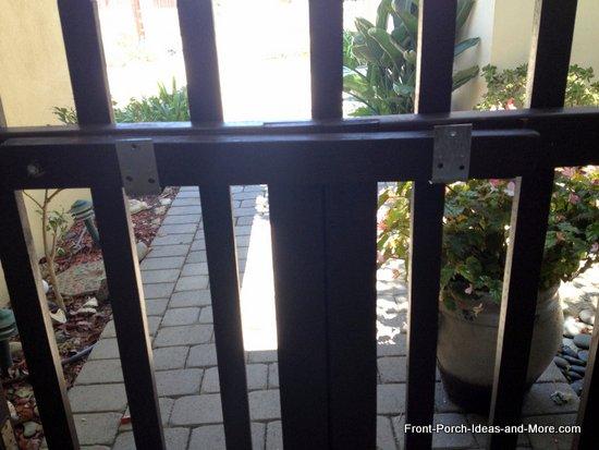Gate latch on the gate