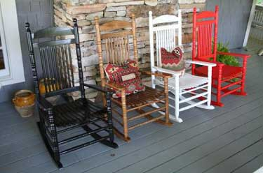Colorful Gatlinburg Wooden Rockers