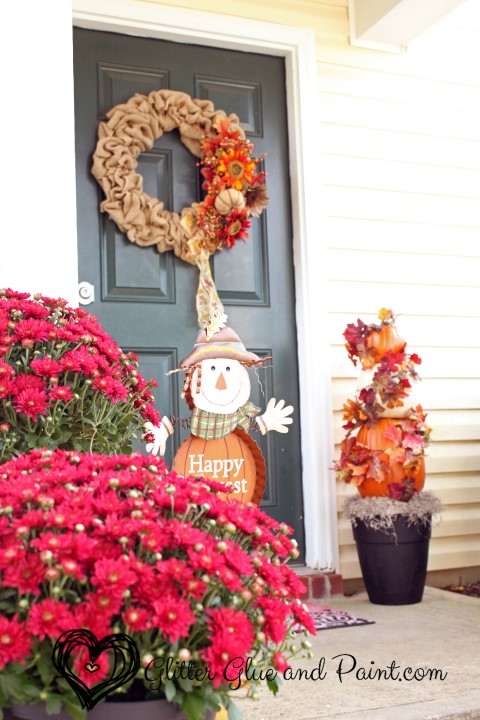 Glitter Glue and Paint Fall Porch Tours