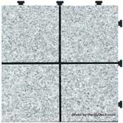 Granite Interlocking Deck Tiles - Rose Blush