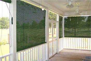 green exterior shades