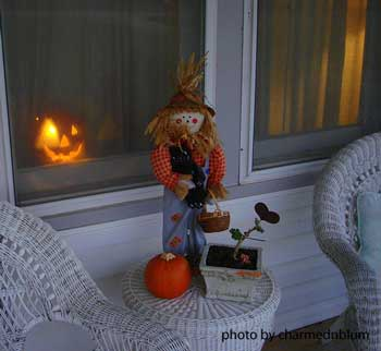 scarecrow on table
