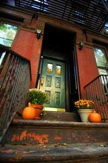 Spooky porch view