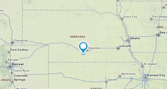 map of middle nebraska