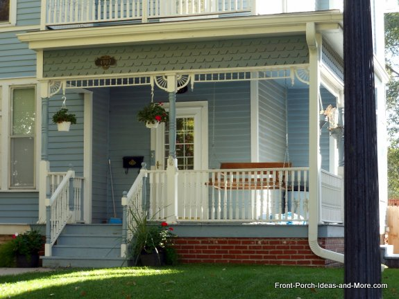 Victorian front porch in Holdrege NE
