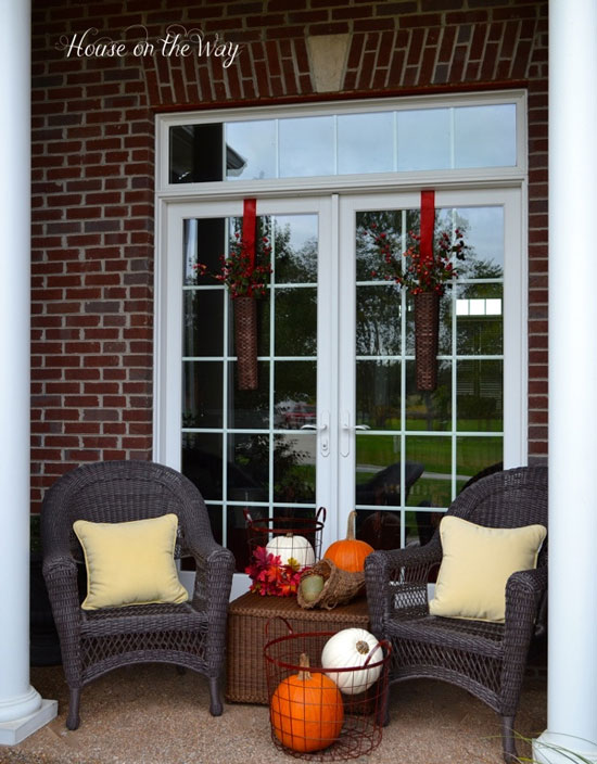 House on the Way Fall Front Porch