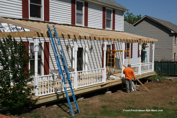 How to build a porch build a front porch front porch for Building an entryway addition
