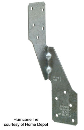 picture of a hurrican tie for joists