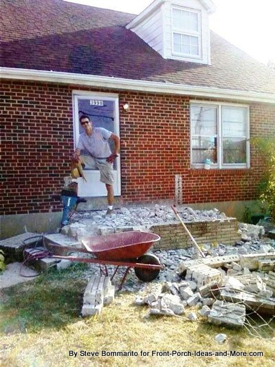 Working 100+ hot summer days to build a new front porch