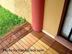 Interlocking deck tile pattern