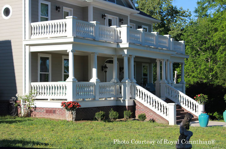 Royal Corinthian® Ionic columns on front porch