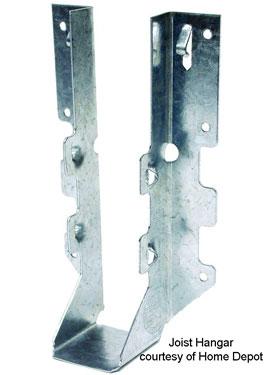 photo of a single joist hanger