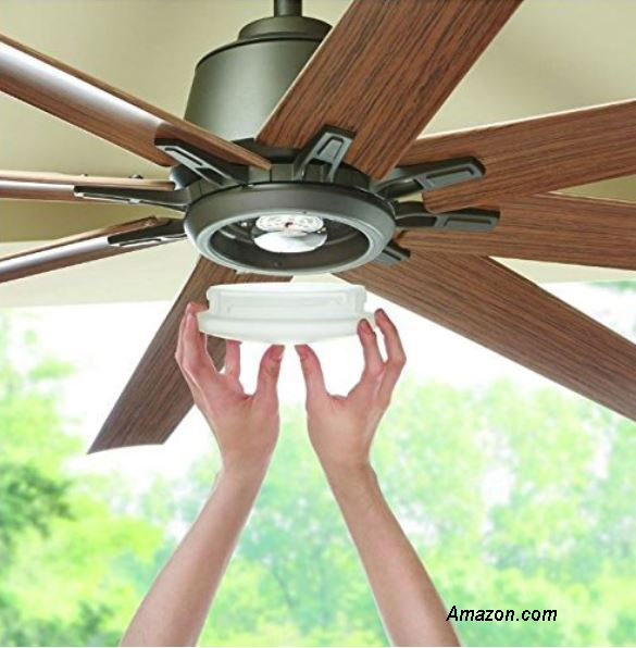 light being replaced on outdoor ceiling fan