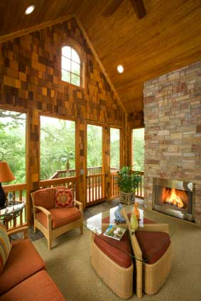 The three season porch is popular as ever for 4 season porch plans