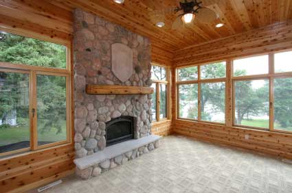 Four season porches 4 season porch sun porch and sunrooms for Log cabin sunroom additions