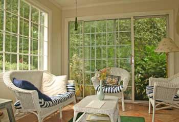A comfortable four season porch
