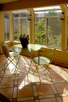 A sunny spot to enjoy in this sunroom