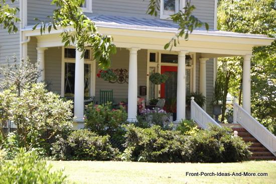 picturesque front porch in Lexington VA