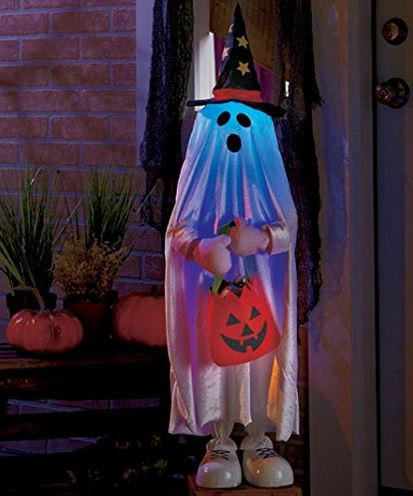 Lighted ghost trick or treater