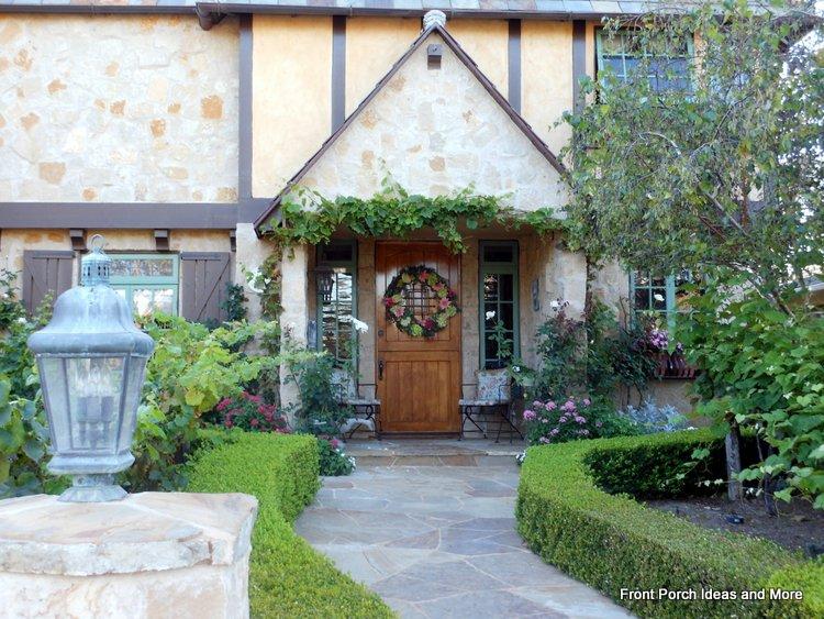 beautiful castle-like porch